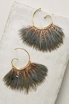 Dusk Songbird Hoops - anthropologie.com