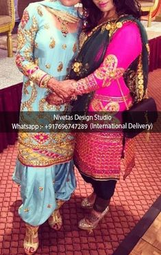 Salwar Suit - whatsapp +917696747289 International Delivery  visit us at https://www.facebook.com/punjabisboutique  We do custom suits to match your requirements. We can work together to create stunning Indian outfits especially to match wedding colors, dazzle for a party or any other special occassions. I will create a custom order for you based on your requirements. Punjabi salwar suits, lehengas, replica outfits, sarees blouses , bridal wear suits, patiala salwar suits, anarkalis suits…