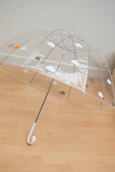 DIY parapluie nuages