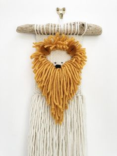 Your place to buy and sell all things handmade Weaving Textiles, Weaving Art, Tapestry Weaving, Loom Weaving, Hand Weaving, Weaving Wall Hanging, Tapestry Wall Hanging, Lion Tapestry, Roving Wool