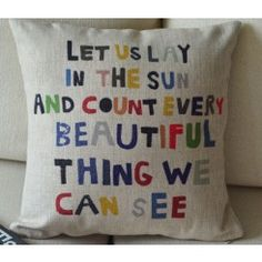 Colorful Letters Linen Cushion Cover