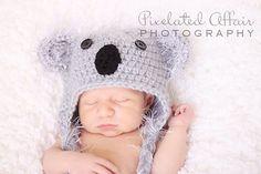Little Koala Crochet Baby Hat