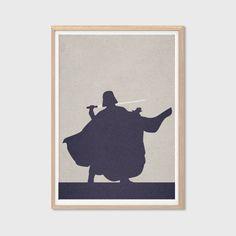 Darth Vader Poster : Modern Star Wars Movie Seventies Illustration Retro Art Wall Decor Print A4 8 x 11