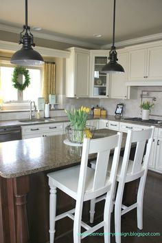 Elementary Design: Yellow, Gray, and Turquoise Kitchen