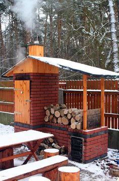 Backyard Smokers, Outdoor Smoker, Outdoor Oven, Fire Pit Backyard, Outdoor Cooking, Smoke House Diy, Smoke House Plans, Outdoor Kitchen Patio, Outdoor Kitchen Design