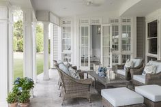 16 Stunning Hamptons Style Al Fresco Spaces You Will Love Outside Living, Outdoor Living Areas, Outdoor Rooms, Living Spaces, Outdoor Seating, Outdoor Dining, Porches, Hamptons House, The Hamptons