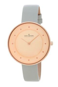 Skagen | Women's Gitte Leather Strap Watch | Nordstrom Rack