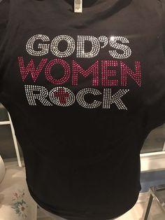 God's Women Rock by PRESSEDToATee on Etsy