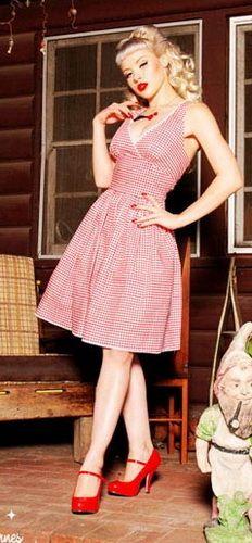 Rockabilly Kleid Küstenluder LARISSA Polka Dots 50s Punkten Bow Pin Up DRESS