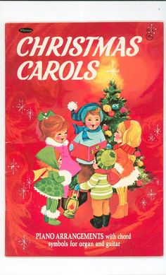 I loved this book as a kid. One of my first xmas piano books. Vintage Christmas Carols Music Book Piano Chord Symbols For Organ & Guitar Whitman 2979 Available In Store Christmas Carol Book, Christmas Past, Christmas Books, Retro Christmas, Vintage Holiday, Christmas Music, Vintage Party, Christmas Vacation, Christmas Ornaments