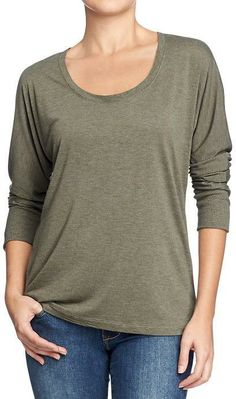58e68b2398875 Old Navy Women s Scoop-Neck Dolman-Sleeve Tops on shopstyle.com. Womens  Fashion Designs