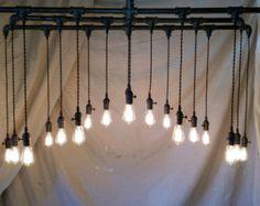 Lámpara Industrial de 16 o 20 luz Plaza por IronLumberandLight