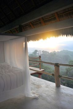 Open bedroom on vacation in paradise ~how sweet