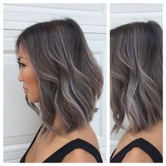 Instagram photo by lisadinhhairstudio - Granny grey for Lisa don't ask me for this color! Her grey hair will fade out after 2 weeks & be a blonde ash balayage. Color, cut & style done by me with the help of Olivia #hairbylisadinh - 4hr session (second session 8 months apart)