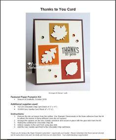 Debbie's Designs Sneak Peek Bonus Project Paper Pumpkin October 2016. Join Paper Pumpkin and receive Alternative Project ideas from me each month. Includes a direction sheet you can print. Debbie Henderson