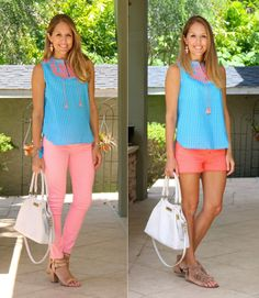 Pink + Blue, spring style
