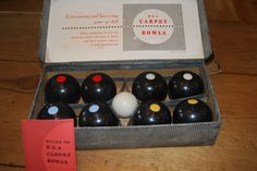Vintage Carpet Bowl Game In Original Box with Instructions! SOLD