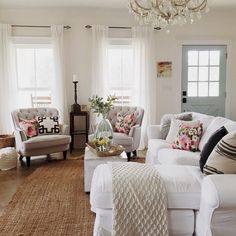 Stunning french country living room decor ideas (54)