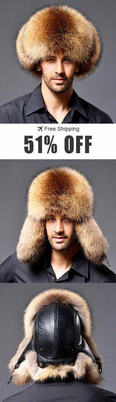 f3a420fcba0 Mens Winter Thickening Warm Faux Fur Hats Earmuffs Earflaps Outdoor  Windproof Russian Cap.