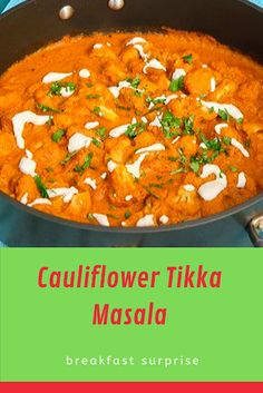#CAULIFLOWER #TIKKA #MASALA    Everyone loves a delicious curry…those bold flavors, the combination of different spices, and that creamy texture. After many trials, today I'm sharing with you my latest creation…Cauliflower Tikka Masala. Some of you may be familiar with this delicious dish.  Well, this is my version of it, MUCH healthier, easy to make, and won't leave you with a stomach ache. Relish Recipes, Carrot Recipes, Bacon Recipes, Appetizer Recipes, Healthy Recipes, Escarole Recipes, Fennel Recipes, Lingonberry Recipes