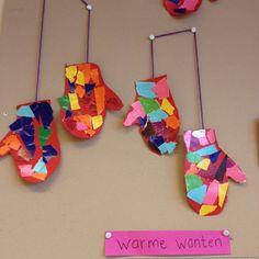 Wanten, knippen, plakken, scheuren Groep 1 2014