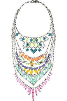 """""""Nothing is so beautiful as spring.""""  Go for a statement necklace with vintage appeal. #smirnoffcontestentry"""