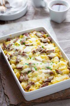 Apple, Cheddar and Sausage Breakfast Strata | Breakfast | Christmas | Casserole | Winter | Make Ahead | Healthy Seasonal Recipes | Katie Webster