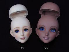 RML PHANTASY HEARTS V1 and V2 HEAD by RMLBJD.deviantart.com on @deviantART #bjd #3dprinter #balljointeddoll #doll