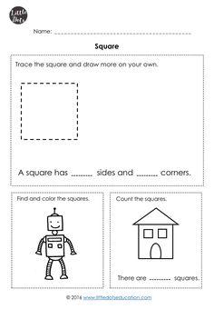 Kindergarten Math Shapes Worksheets and Activities Shape Worksheets For Preschool, Shapes Worksheet Kindergarten, Shapes Worksheets, Free Preschool, Preschool Printables, Free Math, Kindergarten Class, Preschool Shapes, Shape Activities