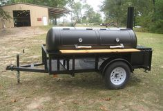 RK 250 BBQ Pit on trailer