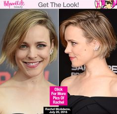 Rachel McAdams looked flawless, as always, at the NYC premiere of her new movie 'Southpaw' on July Get her naturally beautiful hair and makeup here. Inverted Bob Haircuts, Angled Bob Hairstyles, Bob Hairstyles For Fine Hair, Short Bob Haircuts, Cool Hairstyles, Rachel Mcadams Hair, Short Hair Cuts, Short Hair Styles, Short Hairstyles