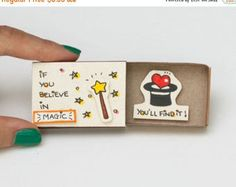 """Encouragement Card/ Inspiring Card/ Duck Matchbox / Gift box / Message box """"Today is the perfect day to be happy""""/ - Ermutigung-Karte / inspirierende Karte / Ente Matchbox / - Matchbox Crafts, Matchbox Art, Fun Crafts, Diy And Crafts, Paper Crafts, Love Cards, Diy Cards, Cadeau Surprise, Cute Messages"""