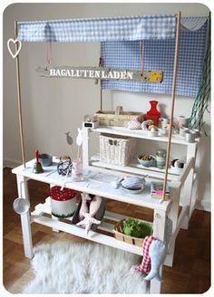 DIY Kaufmannsladen für Kinder aus Kellerrregal