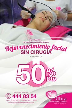 Rejuvenecimiento facial sin cirugía ahora con el 50% descuento