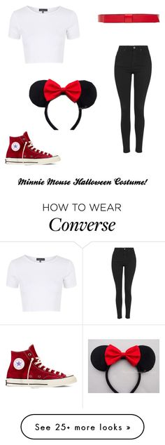 """Minnie Mouse Halloween Costume!"" by jewelqueen on Polyvore featuring Topshop, Marni, Disney and Converse"