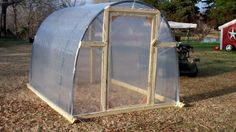 This is such an easy and clever way to build a greenhouse for your yard! I just might give it a try in the spring!