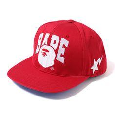 #Bape Snapback Red
