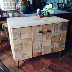Reclaimed timber clad mid century tv unit/coffee table/bedside. More furniture available @ www.facebook.com/groups/VintageReclaimed