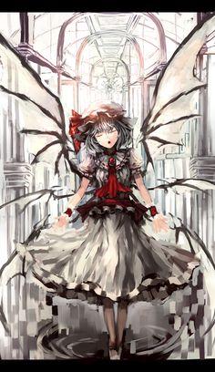 Touhou * Art Manga, Manga Girl, Anime Girls, Manga Illustration, Illustrations, Scarlet, Demon Girl, Kawaii, Angels And Demons