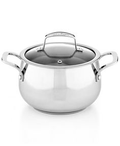 Belgique Stainless Steel 3 Qt. Covered Soup Pot