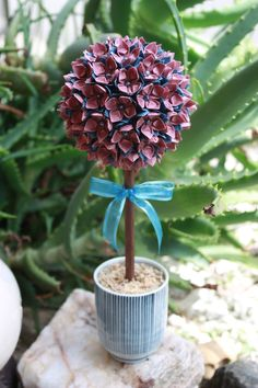 Origami Paper Flower Topiary