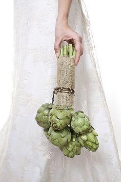 artichoke bouquet - I'm posting this as a joke... But it's so me!!!!