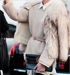 I hate fur, even faux fur, but this outfit is so put together and amazing.