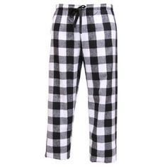 Big Black and White Check Novelty Print Flannel Pants for lounging, sleep, sports. Unisex relaxed fit, Medium Touch of Europe Flannel Pants items. $22.99