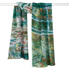 Monet Bridge and Water Lilies Scarf - Scarves - Apparel - The Met Store