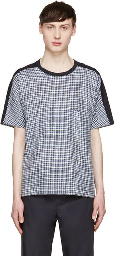 Stephan Schneider - Navy Plaid T-Shirt