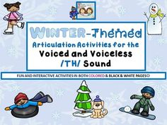 Speech Therapy: Winter-themed Voiced & Voiceless /TH/ Articulation Packet from Shanda from Shanda on TeachersNotebook.com (106 pages)  - Looking for a comprehensive therapy packet for working on the voiced and unvoiced /TH/ sounds? Well, we've put this together just for you!