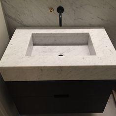 Marmorvask fås i ønsket mål 😉 Different Textures, Dark Gold, Home Decor, Carrara, Sink