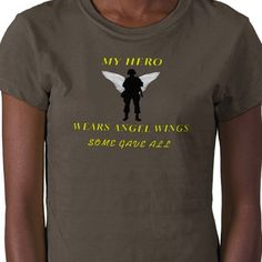 """I just sold my """"Some gave all"""" shirt on zazzle to Jennifer in OK, a big thanks to her. This shirt is for remembering a soldier who has lost their lives fighting for this country, it makes a great gift for anyone who has lost a soldier they loved."""
