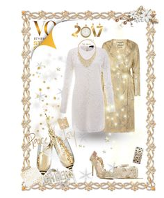"""""""Gold and white New Years"""" by takenbyanangel on Polyvore featuring By Malene Birger, Rachel Zoe, BERRICLE, Sole Society, Oscar de la Renta, National Tree Company, Casetify and Kate Spade"""